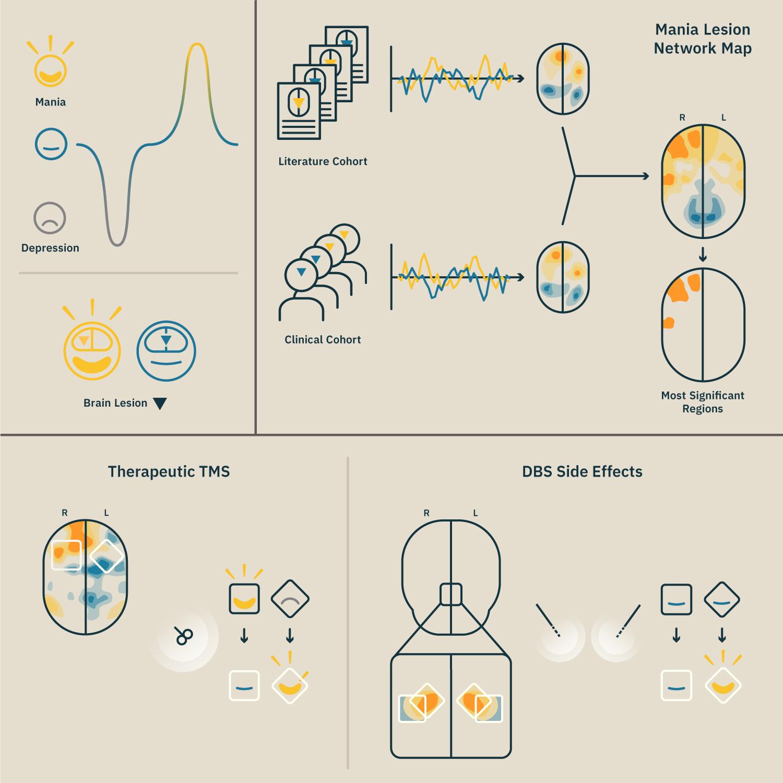 Mapeados circuitos cerebrais associados à mania